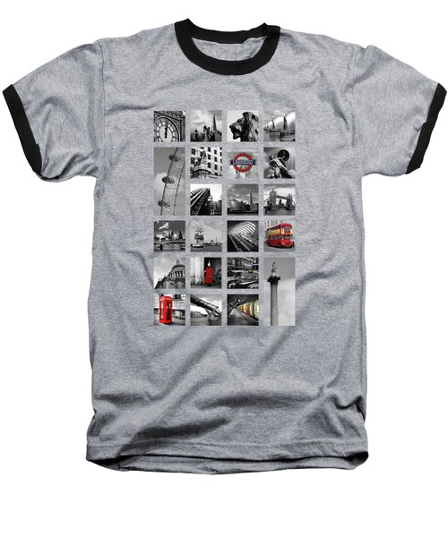 London Squares Baseball T-Shirt by Mark Rogan
