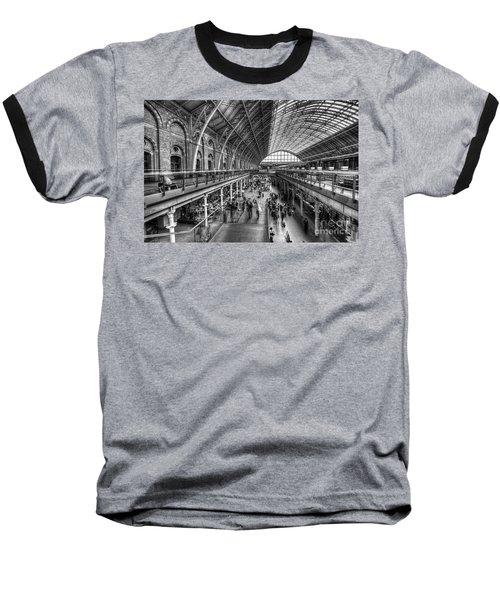 London St Pancras Station Bw Baseball T-Shirt