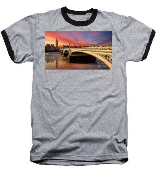 London Sunset Baseball T-Shirt