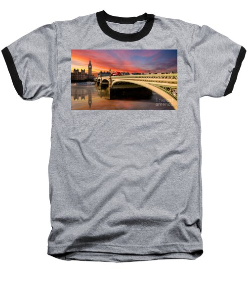 London Sunset Baseball T-Shirt