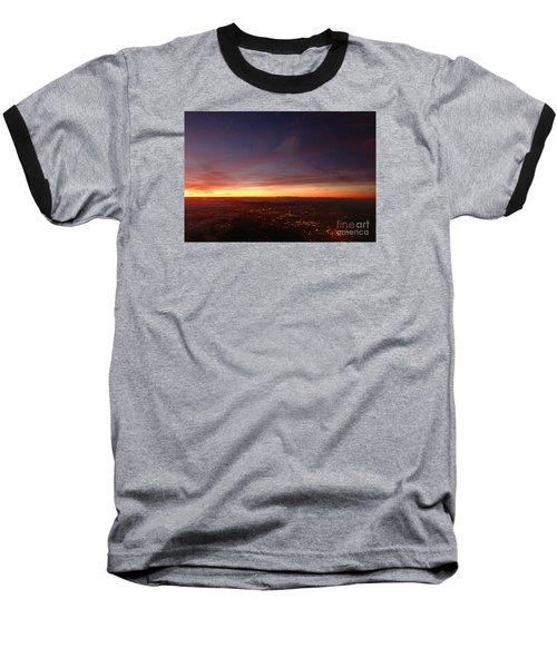 London Sunset Baseball T-Shirt by AmaS Art
