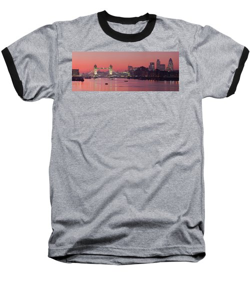 London Thames Baseball T-Shirt by Thomas M Pikolin