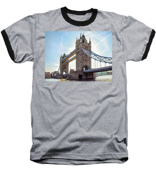 Baseball T-Shirt featuring the photograph London - The Majestic Tower Bridge by Hannes Cmarits