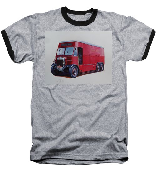 Baseball T-Shirt featuring the painting London Transport Wrecker. by Mike Jeffries