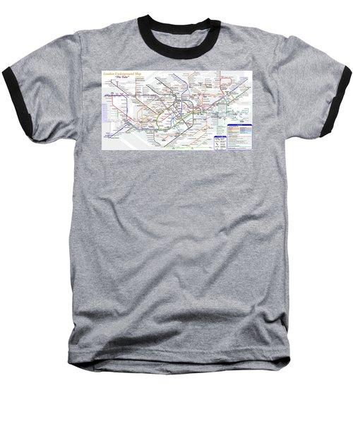 London Underground Map Baseball T-Shirt