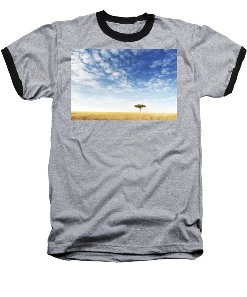 Lone Acacia Tree In The Masai Mara Baseball T-Shirt