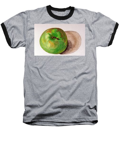 Lone Apple Baseball T-Shirt by Sheron Petrie