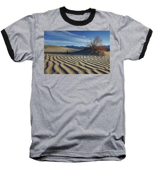 Lone Bush Death Valley Hdr Baseball T-Shirt by James Hammond
