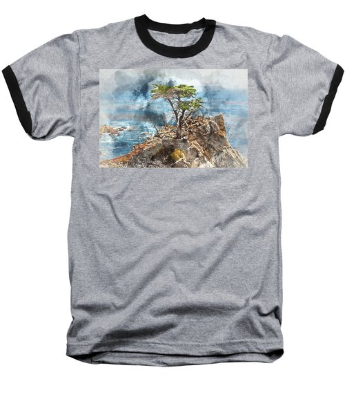 Lone Cypress In Monterey California Baseball T-Shirt