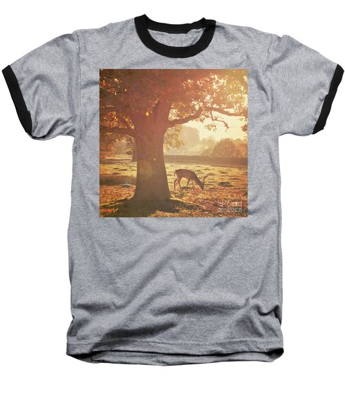 Baseball T-Shirt featuring the photograph Lone Deer by Lyn Randle