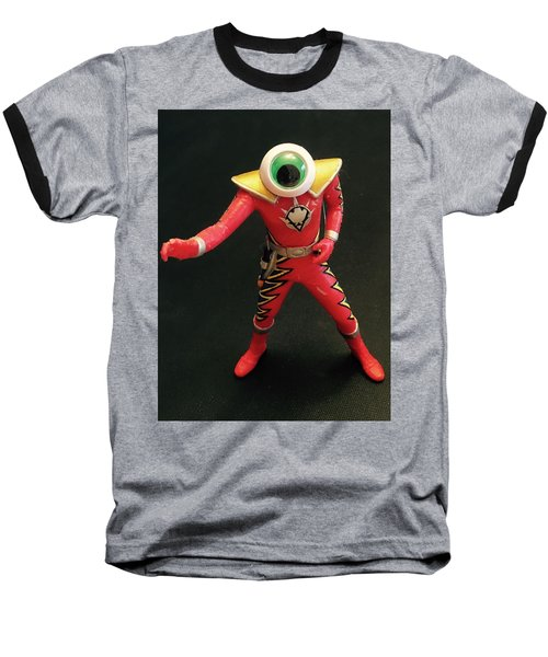 Lone Eye Ranger Baseball T-Shirt by Douglas Fromm