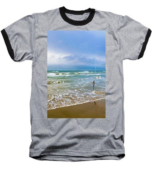 Lone Fishing Pole Baseball T-Shirt