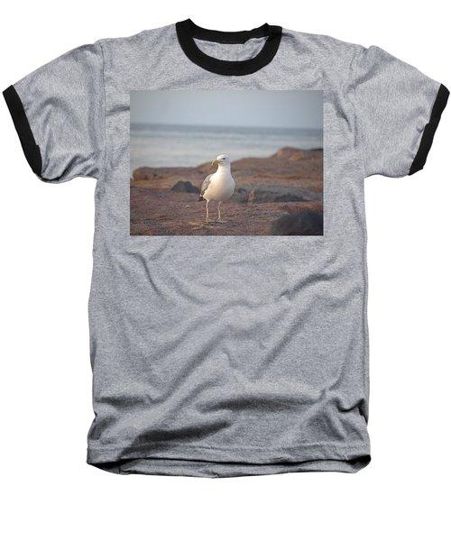 Baseball T-Shirt featuring the photograph Lone Gull by  Newwwman