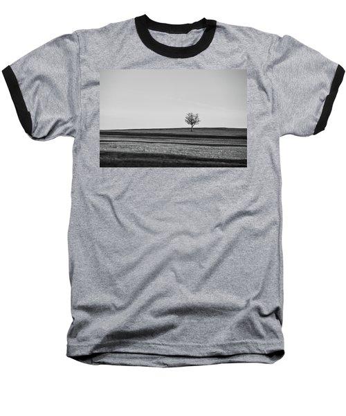Lone Hawthorn Tree Iv Baseball T-Shirt by Helen Northcott