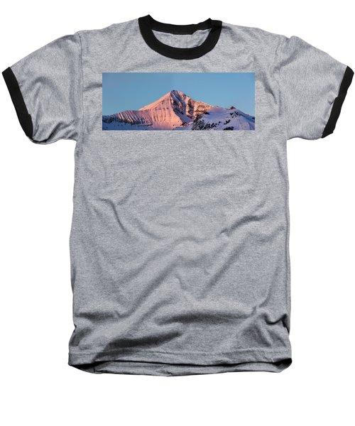 Lone Mountain Alpenglow Panoroama Baseball T-Shirt