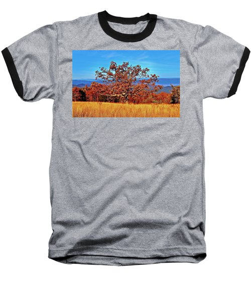 Lone Mountain Tree Baseball T-Shirt