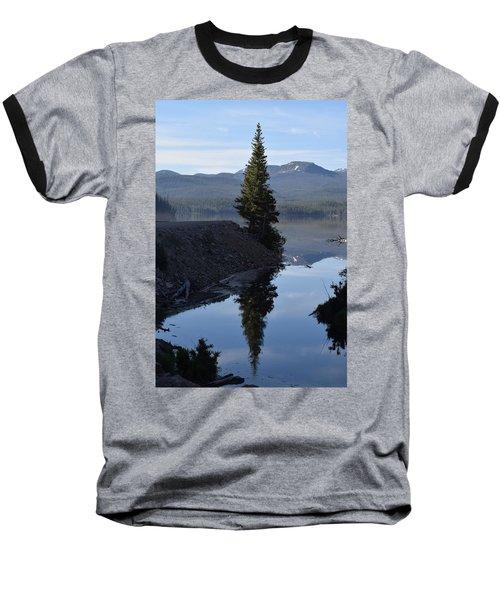 Lone Pine Reflection Chambers Lake Hwy 14 Co Baseball T-Shirt
