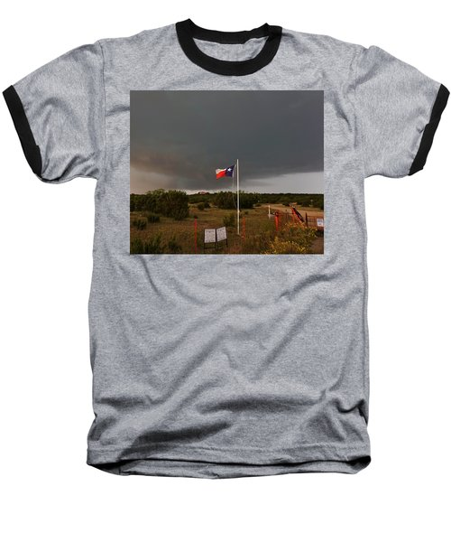 Lone Star Supercell Baseball T-Shirt by Ed Sweeney