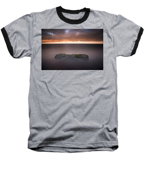 Baseball T-Shirt featuring the photograph Lone Stone At Sunrise by Adam Romanowicz