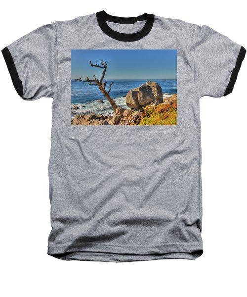 Lone Tree California Coast Baseball T-Shirt by James Hammond