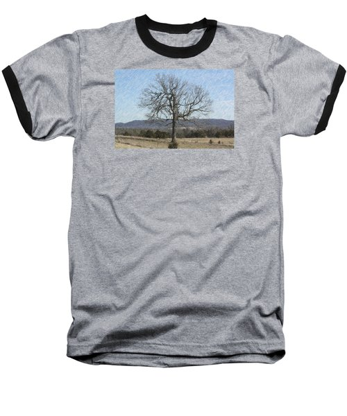 Baseball T-Shirt featuring the photograph Lone Tree by Donna G Smith