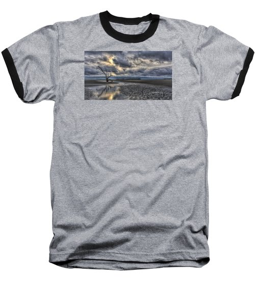 Lone Tree Under Moody Skies Baseball T-Shirt