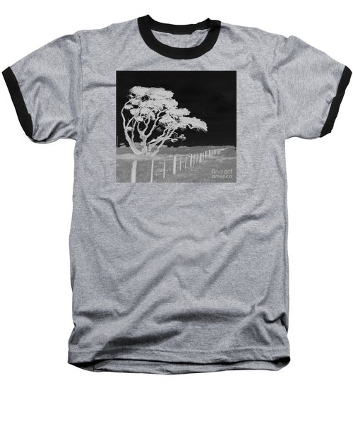 Lone Tree, West Coast Baseball T-Shirt by Nareeta Martin