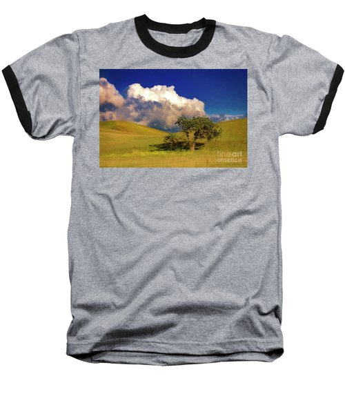 Lone Tree With Storm Clouds Baseball T-Shirt by John A Rodriguez