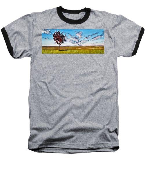 Lonely Autumn Tree Baseball T-Shirt