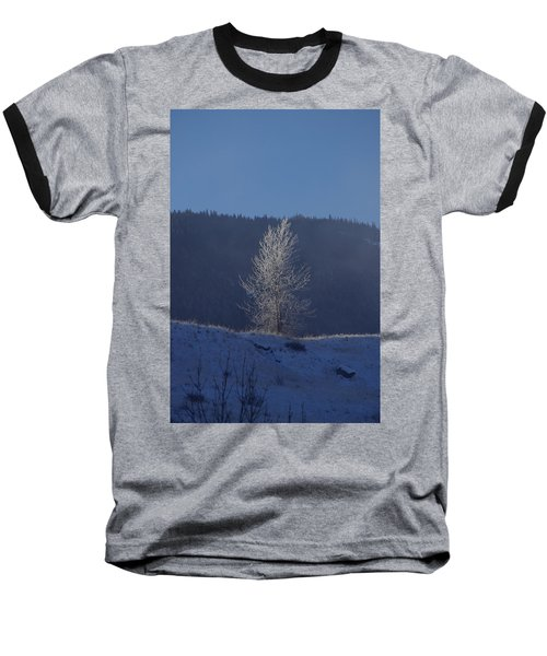 Lonely Frosty Tree Baseball T-Shirt