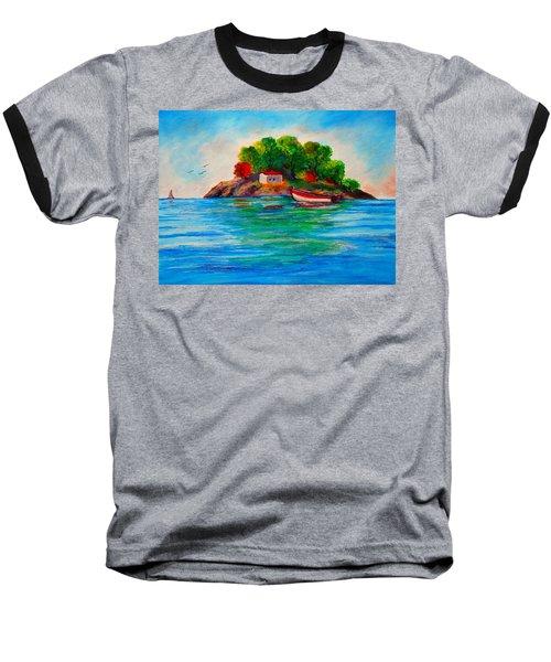Lonely Island In Greece Baseball T-Shirt