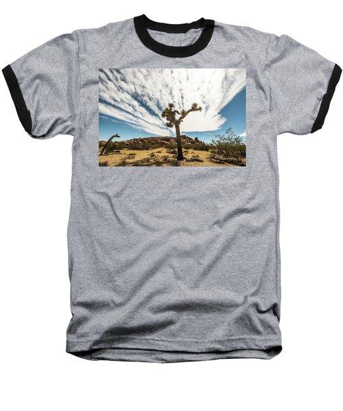 Lonely Joshua Tree Baseball T-Shirt by Amyn Nasser