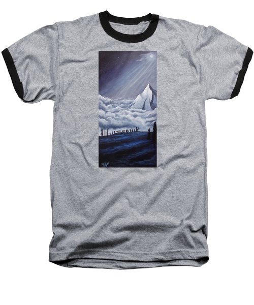 Lonely Mountain Baseball T-Shirt by Dan Wagner