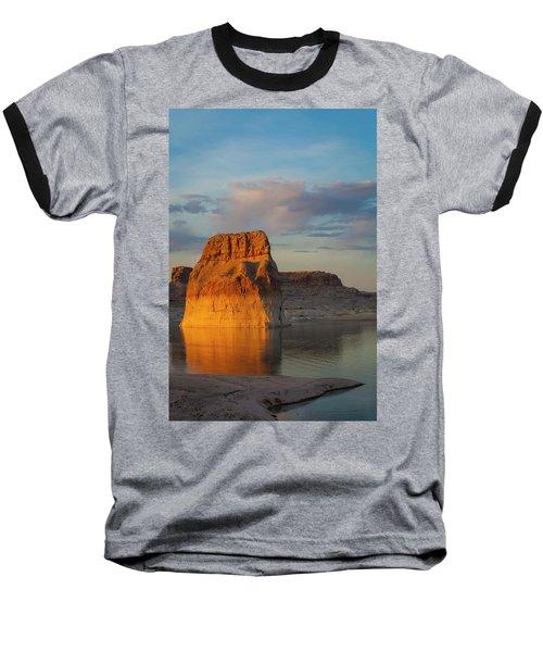 Lonely Rock Baseball T-Shirt by David Cote