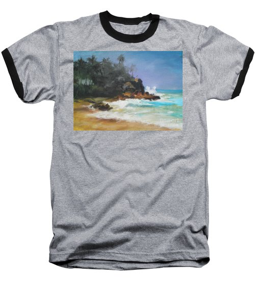 Baseball T-Shirt featuring the painting Lonely Sea by Rushan Ruzaick