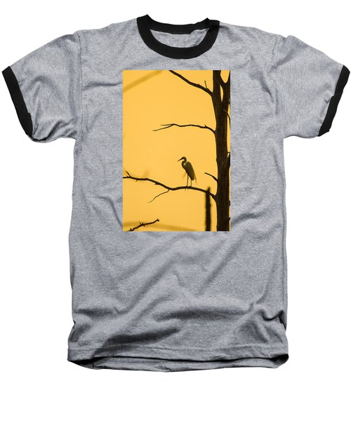 Lonely Silhouette Baseball T-Shirt