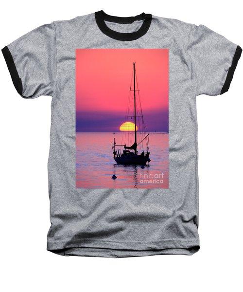 Baseball T-Shirt featuring the photograph Lonely Sunset by Bernardo Galmarini