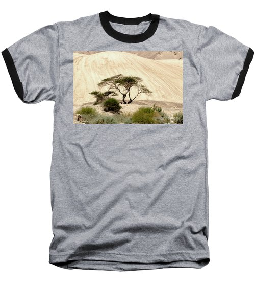 Lonely Tree Baseball T-Shirt by Arik Baltinester