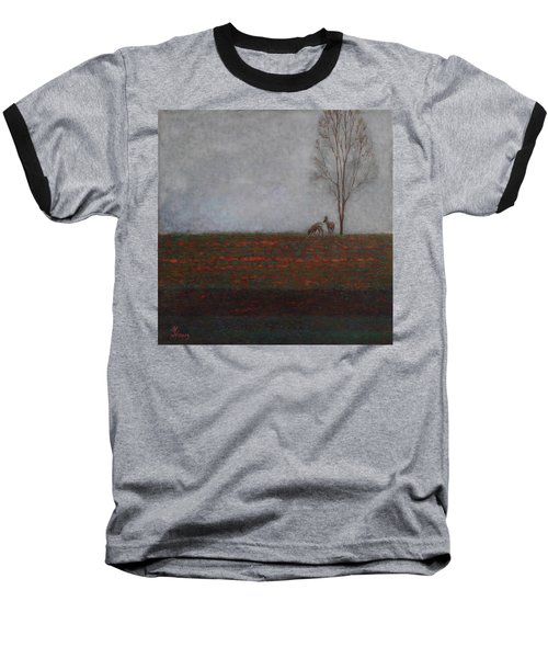 Lonely Tree With Two Roes Baseball T-Shirt