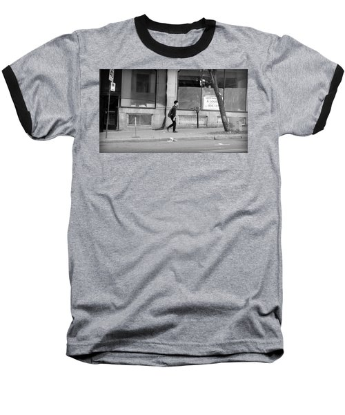 Baseball T-Shirt featuring the photograph Lonely Urban Walk by Valentino Visentini