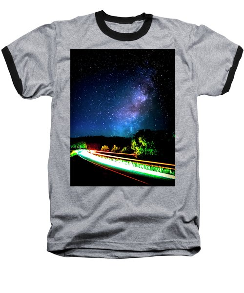 Baseball T-Shirt featuring the photograph Lonesome Texas Highway by David Morefield