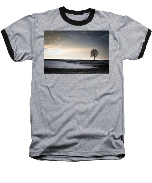 Lonesome Tree On A Hill IIi Baseball T-Shirt by David Sutton