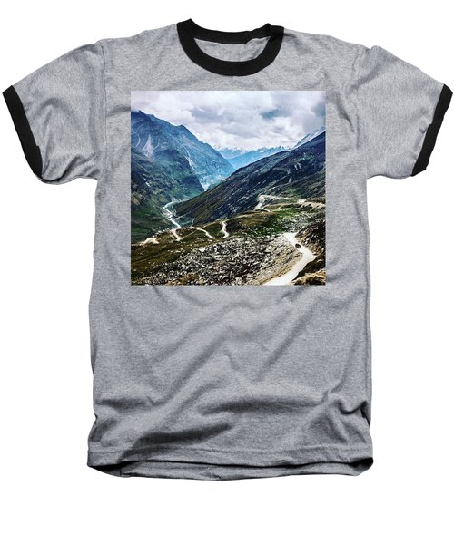 Long And Winding Roads Baseball T-Shirt