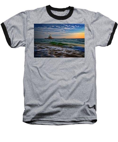 Long Beach Bar Lighthouse Baseball T-Shirt