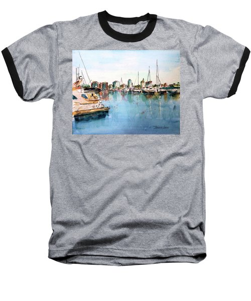 Long Beach Coastal View Baseball T-Shirt