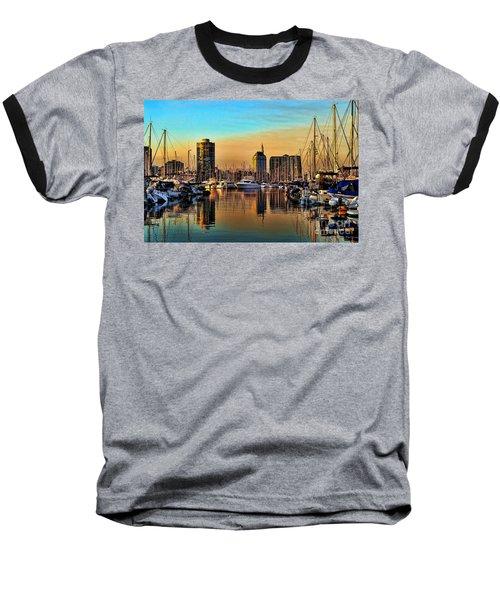 Baseball T-Shirt featuring the photograph Long Beach Harbor by Mariola Bitner