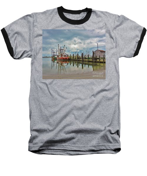Long Beach Island Docks Baseball T-Shirt