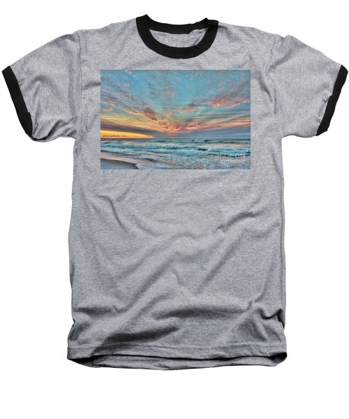 Long Beach Island Sunrise Baseball T-Shirt