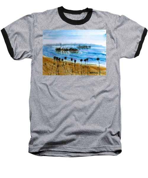 Long Beach Oil Islands Before Sunset Baseball T-Shirt