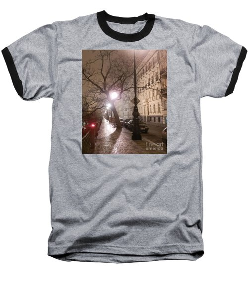 Long Cobblestone Street Of Prague Baseball T-Shirt by Margaret Brooks